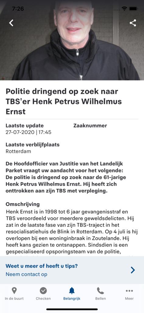 Dutch Police Urgent Details
